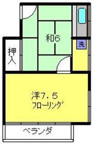 中端荘2階Fの間取り画像