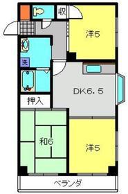新丸子駅 徒歩27分2階Fの間取り画像