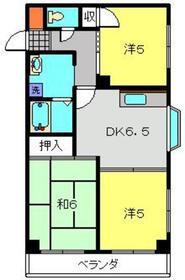 武蔵小杉駅 徒歩27分2階Fの間取り画像