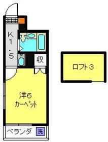 メイゾン綱島西1階Fの間取り画像