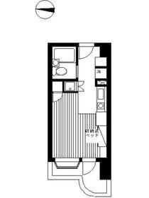 インペリアル南麻布サテライト5階Fの間取り画像