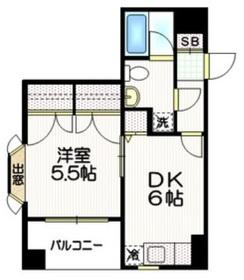 サイレンス神楽坂4階Fの間取り画像
