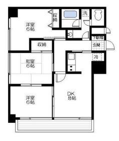 鎧橋ビル4階Fの間取り画像