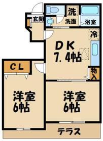 ドエル561階Fの間取り画像