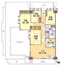 稲城ガーデニア弐番館9階Fの間取り画像