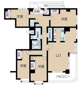 シテェ・ドルトワール3階Fの間取り画像