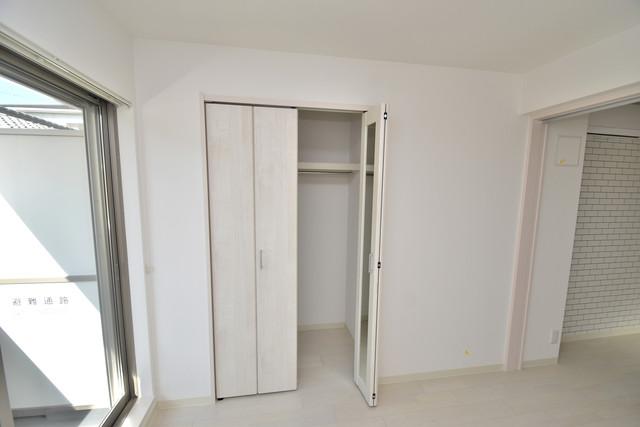 ラモーナ巽南 もちろん収納スペースも確保。おかげでお部屋の中がスッキリ。
