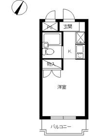 スカイコート川崎43階Fの間取り画像