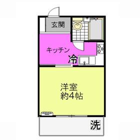 島村ハイツ2階Fの間取り画像