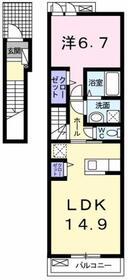 プロムナード Ⅱ2階Fの間取り画像