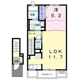 プリムベール2階Fの間取り画像