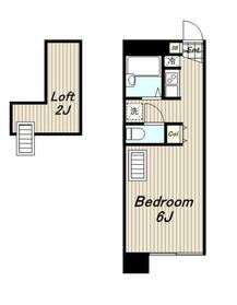 レオパレスイサヤマ2階Fの間取り画像