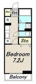 メゾンドアンジュ2階Fの間取り画像