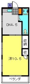 羽沢コーポ2階Fの間取り画像