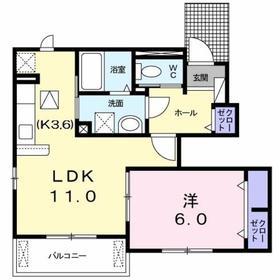 エスタシオン1階Fの間取り画像