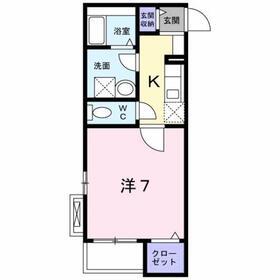 衣笠駅 徒歩11分2階Fの間取り画像