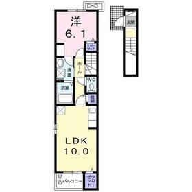 シャロームガーデン2階Fの間取り画像