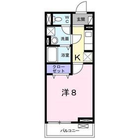 八王子駅 徒歩11分3階Fの間取り画像