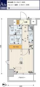 スカイコートパレス大島8階Fの間取り画像