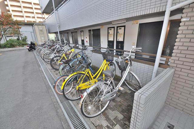 グリーングラス 広い駐輪スペースは、置き場を探すこともなくなりますね。