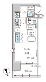 パークアクシス築地2階Fの間取り画像