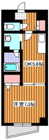 ハイグレード椿4階Fの間取り画像