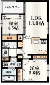 稲城長沼駅 徒歩19分2階Fの間取り画像