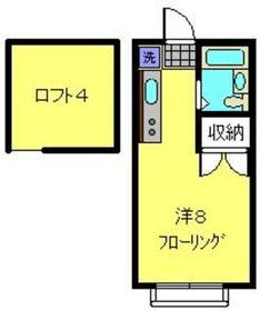 アップルハウス弘明寺22階Fの間取り画像