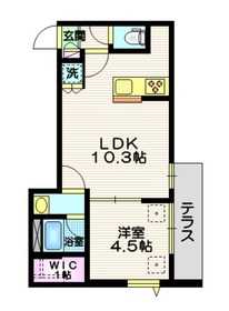 Raffine Senkawa1階Fの間取り画像