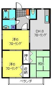 NAKⅡ2階Fの間取り画像