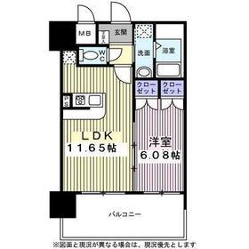 アルティザ仙台花京院11階Fの間取り画像