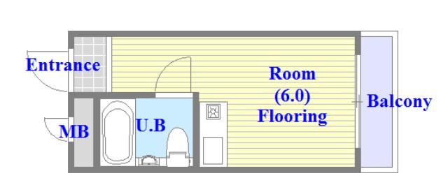 プレアール菱屋西 学生さん・初めての1人暮らしにピッタリのコンパクトな間取です。