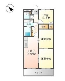 ロイヤルコーポ・サノ2階Fの間取り画像