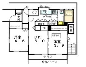 メゾンヤマイ1階Fの間取り画像
