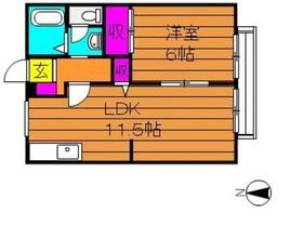 セレーノカーサ2階Fの間取り画像