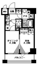日神デュオステージ馬車道13階Fの間取り画像