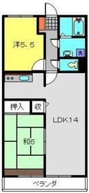 ファミールKOWA3階Fの間取り画像