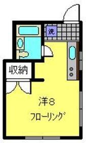 青山ハイツ2階Fの間取り画像