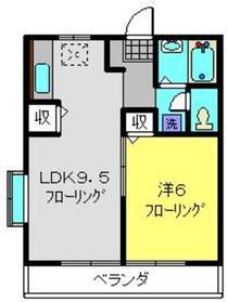 ベルグリーン36B2階Fの間取り画像