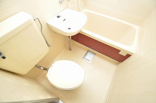 グローリア高井田 お風呂・トイレが一緒なのでお部屋が広く使えますね。