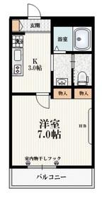 アモジュール2階Fの間取り画像