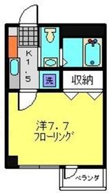 武蔵新城駅 徒歩3分2階Fの間取り画像