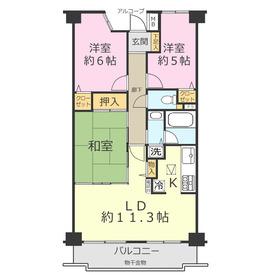 ダイアパレス上福岡Ⅲ3階Fの間取り画像