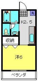 ハイツTUKASA2階Fの間取り画像