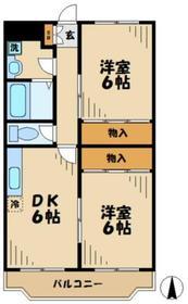 アイディーアル4階Fの間取り画像