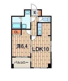 オーデシャトー4階Fの間取り画像