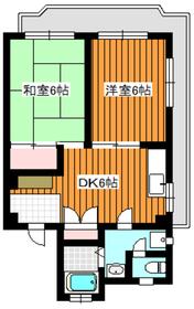 地下鉄赤塚駅 徒歩21分3階Fの間取り画像