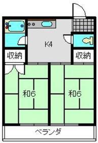第三冨士見荘2階Fの間取り画像