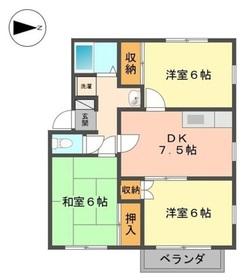 メゾンファミーユ1階Fの間取り画像