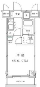 ライジングプレイス桜木町5階Fの間取り画像